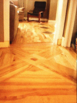 Inlayed wood floor